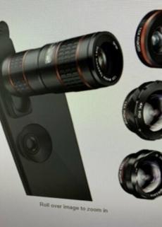Phone Camera 12x zoom Telephoto Lens and fisheye/macro lens